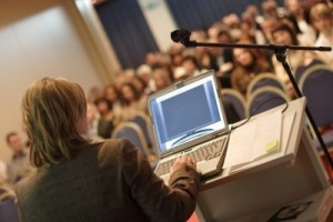 Picture of woman giving a presentation